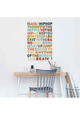 Reinders! Poster »Poster I said a HipHop Farbig - Hip-Hop - Songtext - Musik«,... kaufen