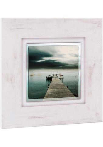 Home affaire Holzbild »Steg mit Booten«, 40/40 cm kaufen