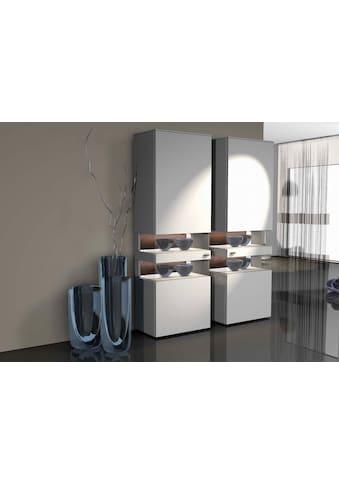 GWINNER Vitrine »ANZIO«, Lack weiß, 1-türig, Höhe 196,4 cm kaufen