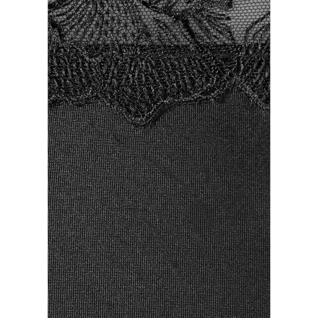 LASCANA Slip, mit schöner Stickereispitze