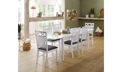 Home affaire Stuhl »Fullerton«, mit schönen Fräsungen an der Rückenlehne, Sitzhöhe 47 cm kaufen