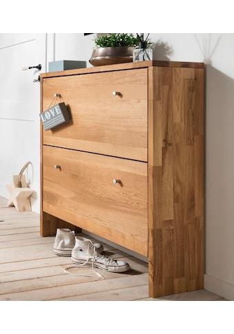 Home affaire Schuhkommode »Dura«, aus massiver Wildeiche, Breite 82 cm kaufen