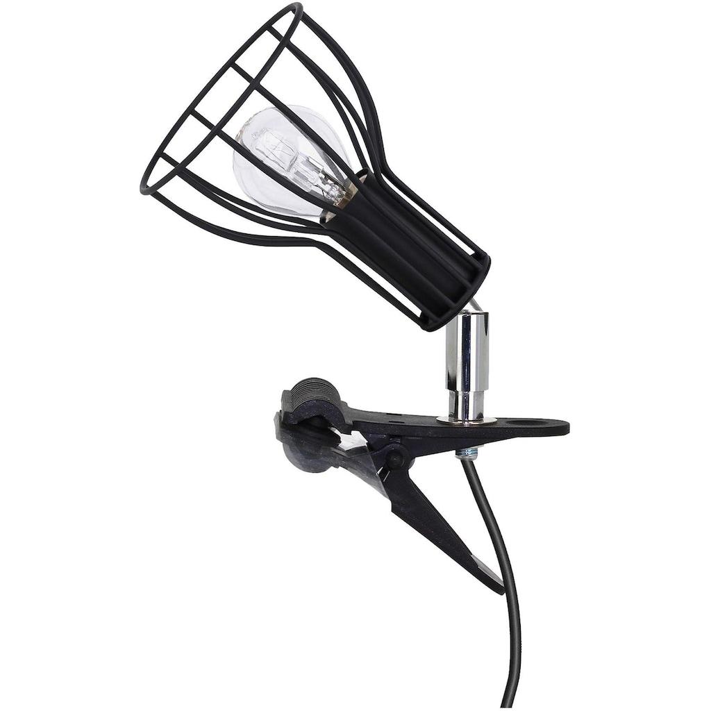 SPOT Light Klemmleuchte »MEGAN«, E14, Moderne Klemmleuchte, Dekorativer Schirm aus Metall, passendes LM E14, Made in Europe