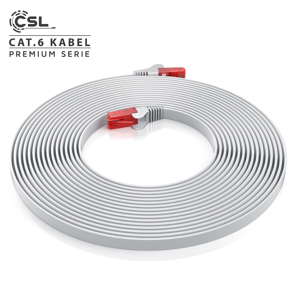 CSL Cat.6 Flachband Netzwerkkabel (RJ45)