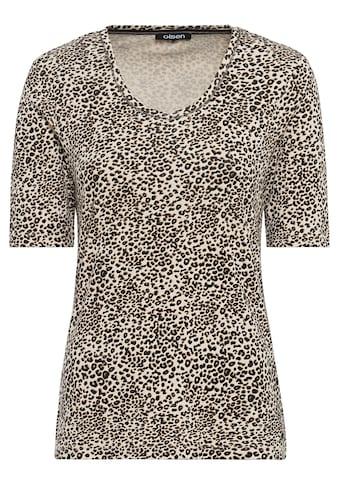 Olsen V-Shirt, mit Leopardenmuster kaufen