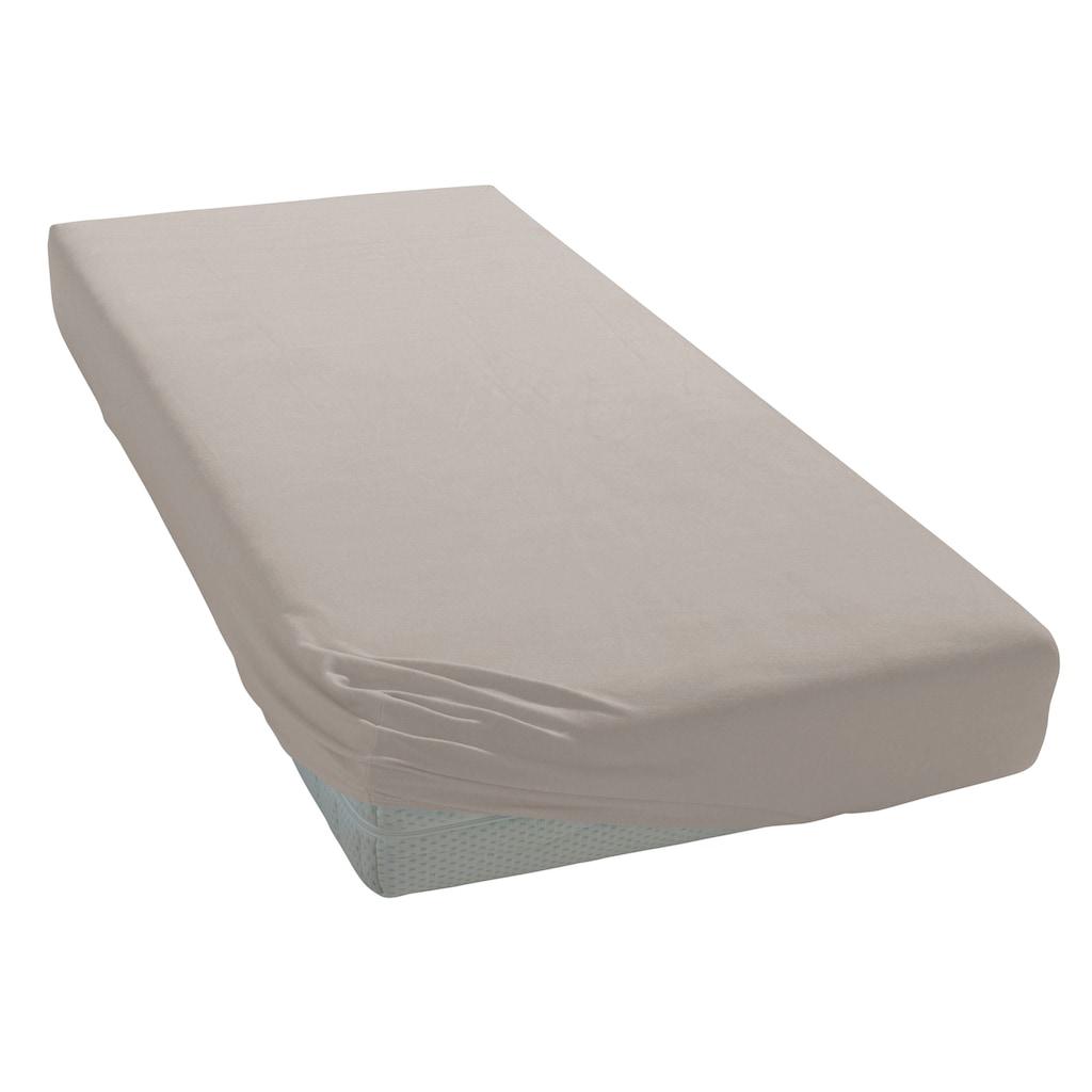 my home Spannbettlaken »Jersey XL«, für extra hohe Matratzen und Boxspringbetten