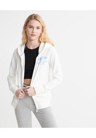 Superdry Kapuzensweatjacke »TRACK & FIELD ZIPHOOD«, mit ausgestanztem Markenschriftzug kaufen