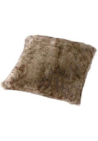 Gözze Fellkissen »Wolf Felloptik«, mit Federn gefüllt kaufen