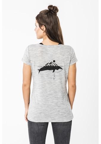 SUPER.NATURAL T-Shirt »W PRINT TEE«, angenehmer Merino-Materialmix kaufen