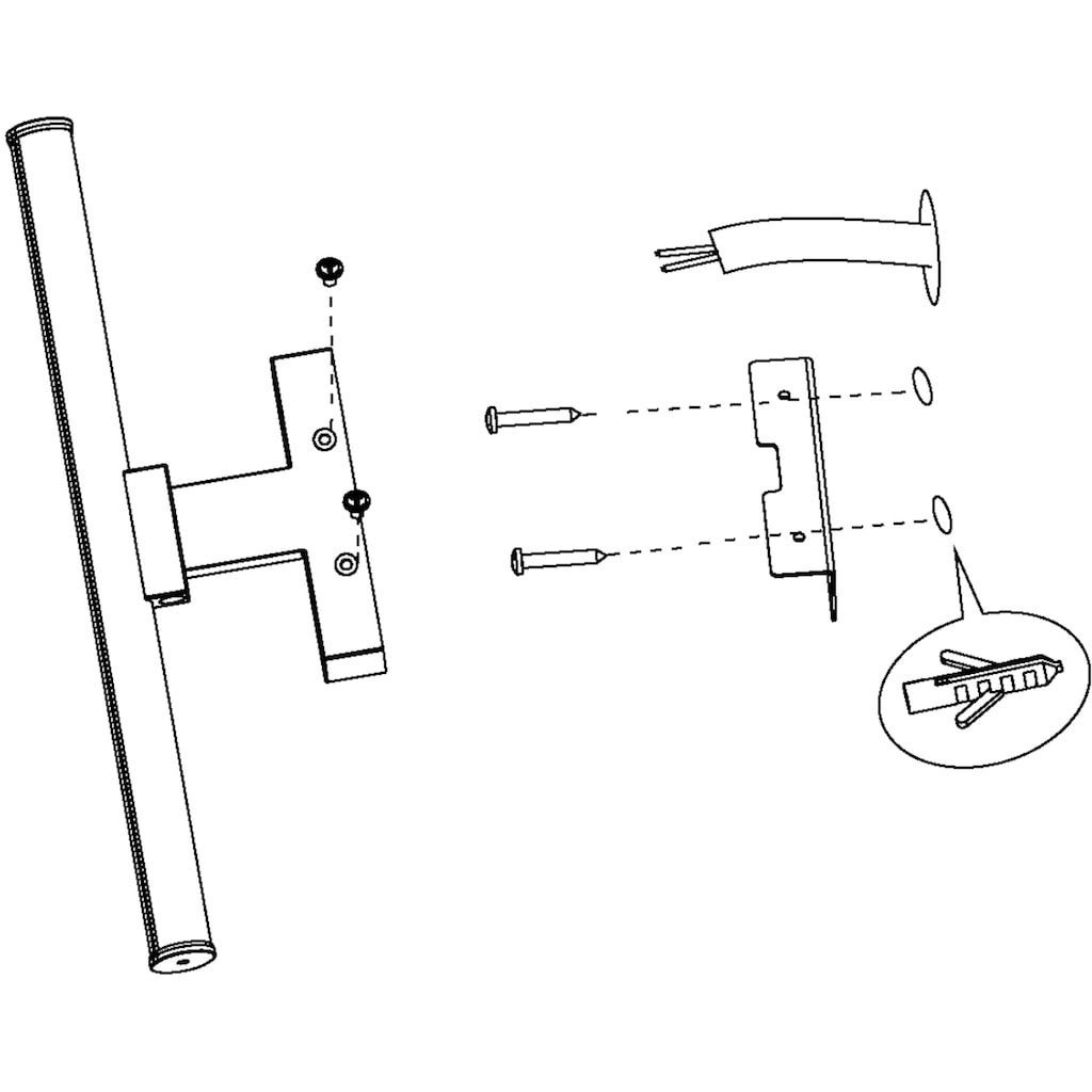 EGLO Wandleuchte »VADUMI«, LED-Board, Neutralweiß