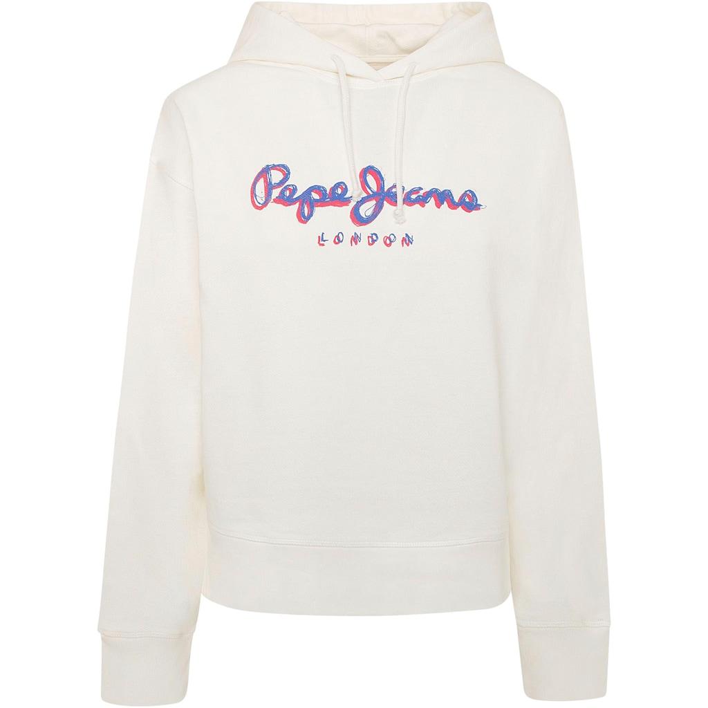 Pepe Jeans Hoodie »BRIGITTE«, mit großem buntem Marken-Logo-Druck im Brustbereich