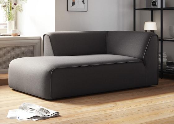 modernes Recamiere in Grau