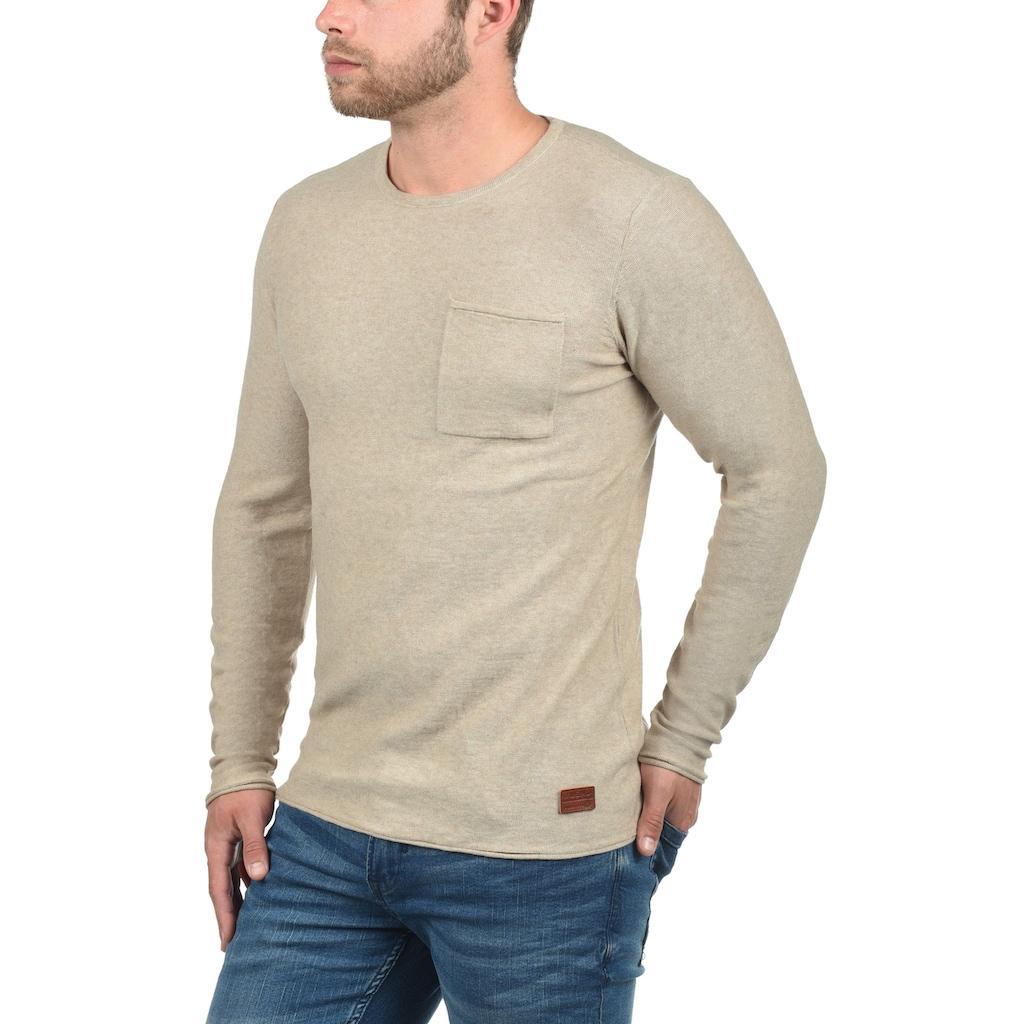 Blend Rundhalspullover »Francisco«, Strickpullover mit Brusttasche