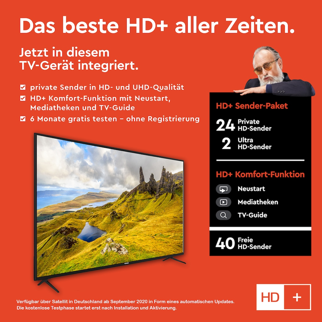 """Telefunken LED-Fernseher »XU43K521«, 108 cm/43 """", 4K Ultra HD, Smart-TV"""