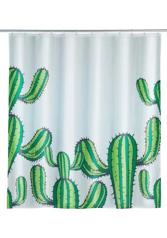 WENKO Duschvorhang »Cactus«, Breite 180 cm, Höhe 200 cm, Polyester, waschbar kaufen