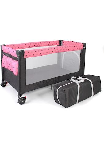CHIC4BABY Baby-Reisebett »Luxus, Sternchen grau« kaufen