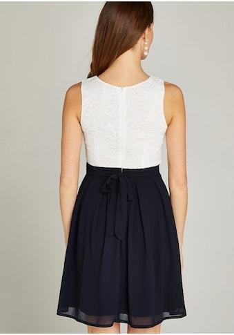Apricot Partykleid »Lace Top Colour Block Skater Dress«, im Colour Block Dessin kaufen