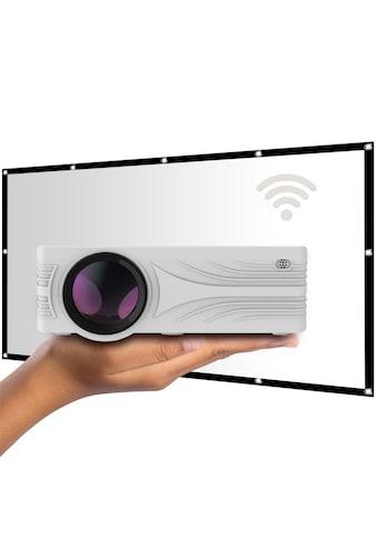 LA VAGUE LED-Beamer »LV-HD240 Wi-Fi inkl. LV-STA100FP«, (1000:1), weiß, unterstützt... kaufen