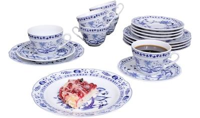 "Eschenbach Kaffeeservice ""Romantika  -  Zwiebelmuster"" (18 - tlg.), Porzellan kaufen"
