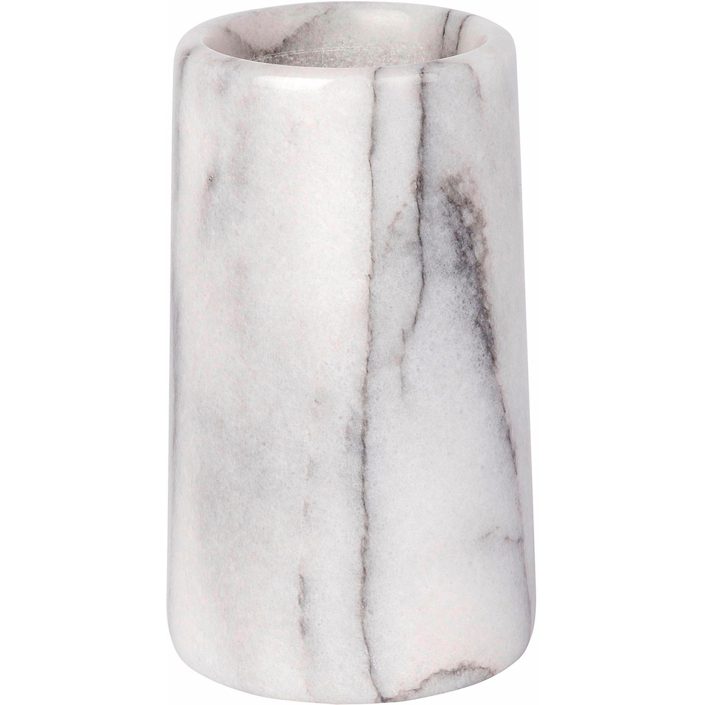WENKO Zahnputzbecher »Onyx«, Steinoptik