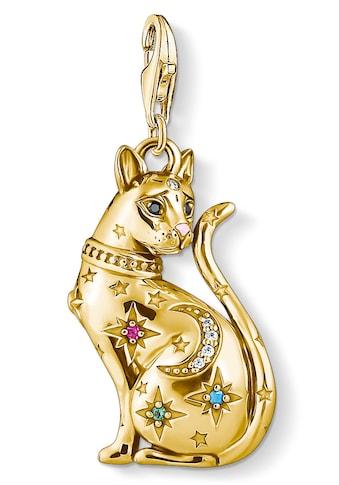 THOMAS SABO Charm-Einhänger »Katze Sternenbild gold, 1838-471-7«, mit Emaille, synth.... kaufen