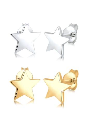 Elli Ohrring-Set »Set Sterne Star Astro Bi-Color 925 Sterling Silber« kaufen