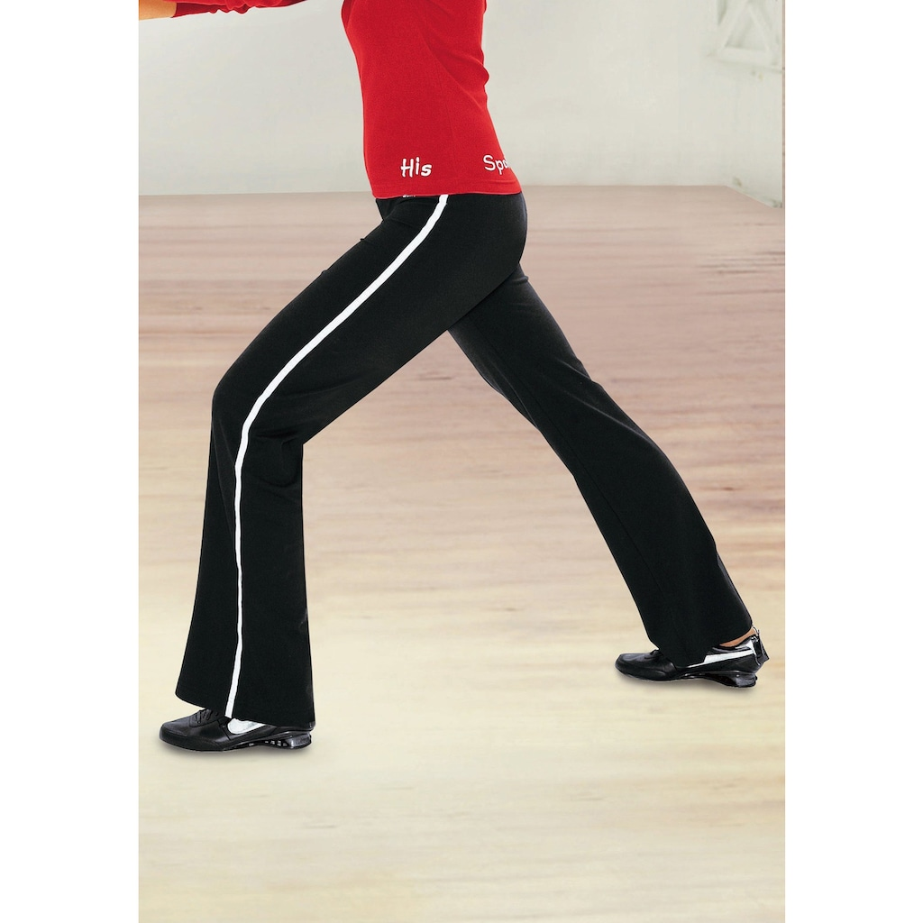 H.I.S Jazzpants, mit einseitig aufgesetztem Band am Bein