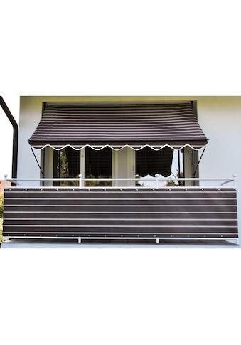 Angerer Freizeitmöbel Balkonsichtschutz, Meterware, braun/weiß, H: 75 cm kaufen
