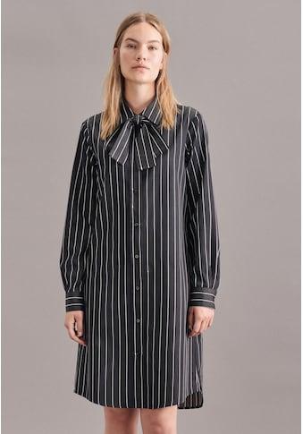 seidensticker Sommerkleid »Schwarze Rose«, Langarm Kragen Streifen kaufen
