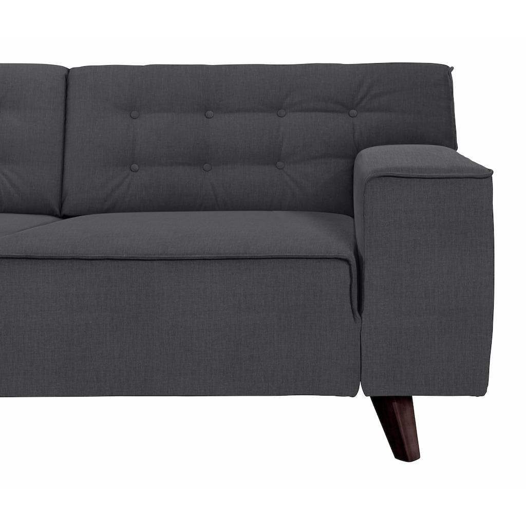 TOM TAILOR Ecksofa »NORDIC CHIC«, mit Ottomane, wahlweise mit Sitzvorzug, Füße wengefarben