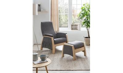Home affaire Relaxsessel »Torge«, mit Schaukelfunktion und Schaukelhocker, Rückenlehne 3fach verstellbar kaufen