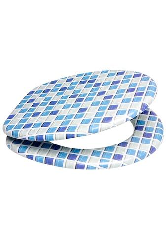 SANILO WC - Sitz »Mosaik Blau«, mit Absenkautomatik kaufen