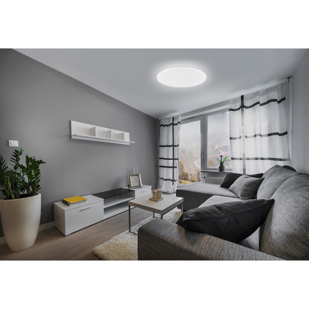EGLO LED Deckenleuchte »POGLIOLA-S«, LED-Modul, 1 St., Neutralweiß, Sternenhimmel, Kristalleffekt, Modern, Deckenlampe Ø 50cm