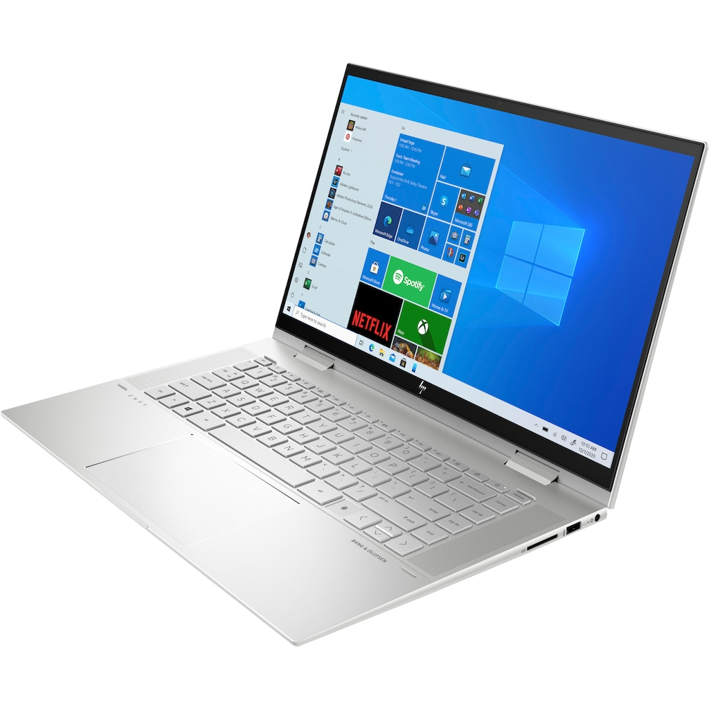 "HP Notebook »ENVY x360 Convert 15-es0277ng«, (39,6 cm/15,6 "" Intel Core i7 GeForce MX450\r\n 512 GB SSD), Kostenloses Upgrade auf Windows 11, sobald verfügbar"