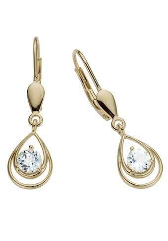 Firetti Paar Ohrhänger »Tropfen«, mit Blautopas (behandelt) kaufen