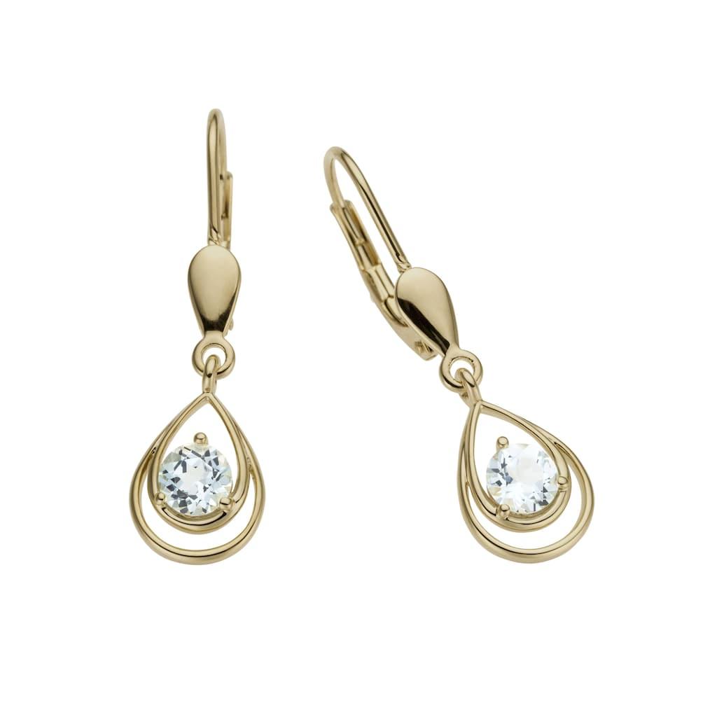 Firetti Paar Ohrhänger »Tropfen«, mit Blautopas (behandelt)