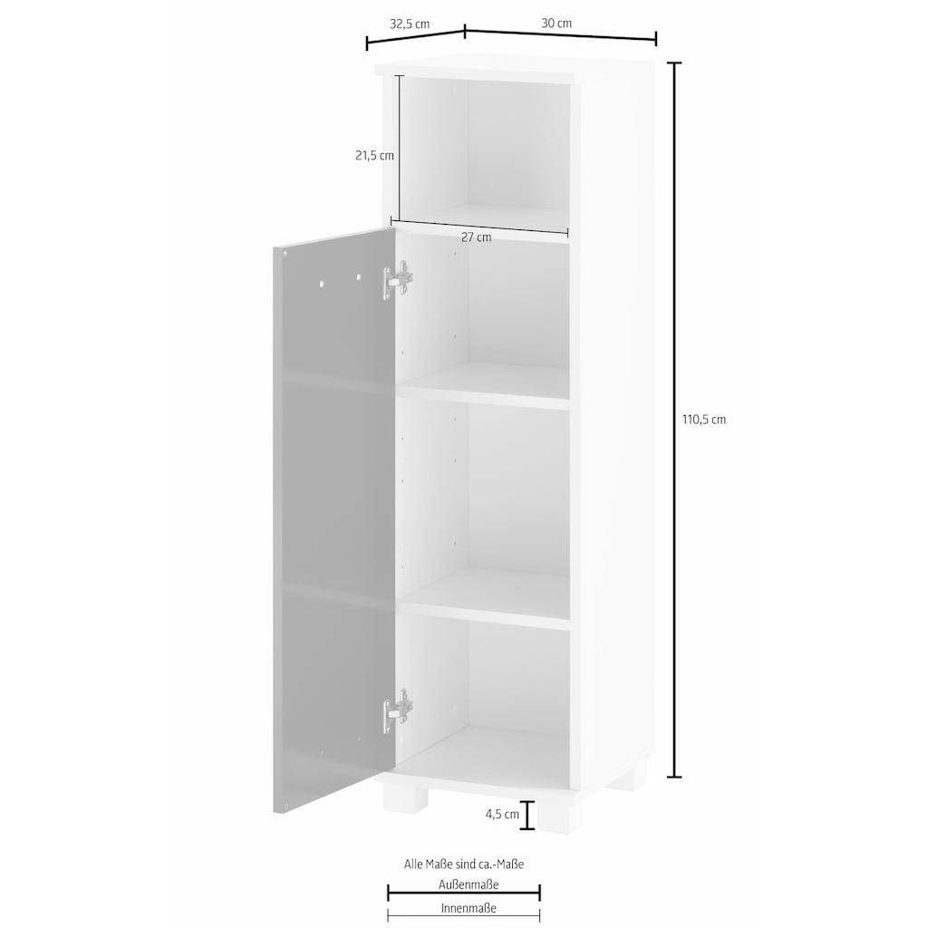 Schildmeyer Midischrank »Colli«, Höhe 110,5 cm, Badezimmerschrank mit Metallgriff, Ablageböden hinter der Tür, praktischer Stauraum im offenen Fach