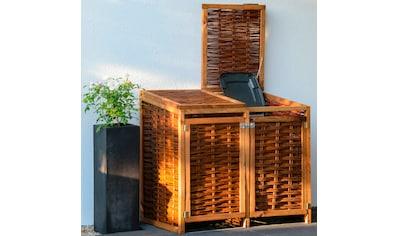dobar Mülltonnenbox, 2x120l, BxTxH: 125x80x115 cm kaufen