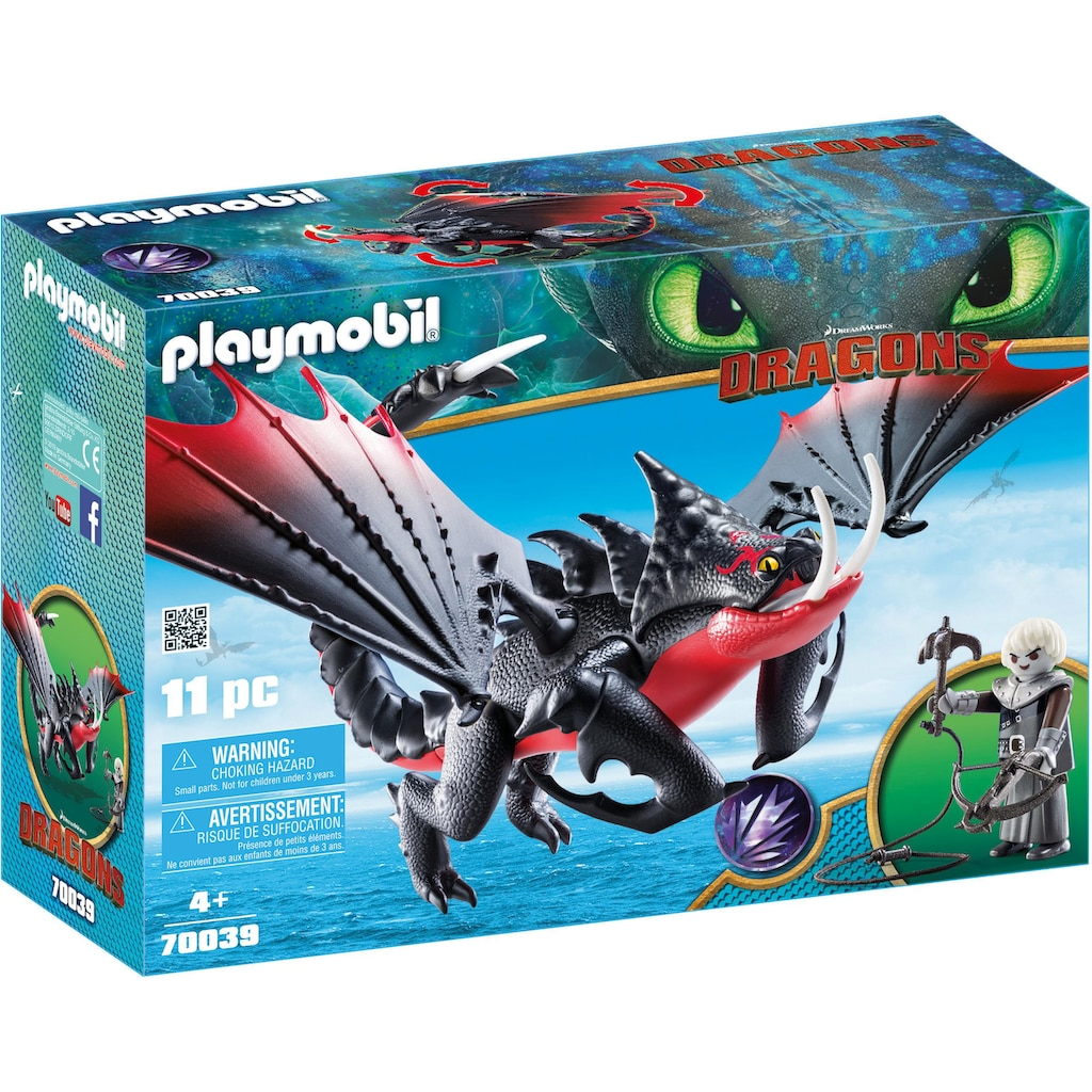 Playmobil® Konstruktions-Spielset »Deathgripper mit Grimmel (70039), Dragons«, Made in Germany