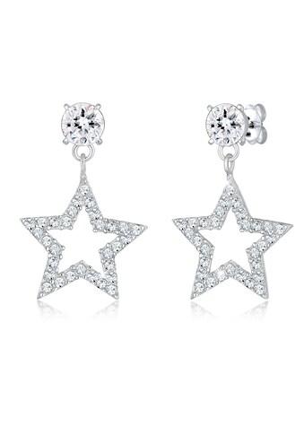 Elli Paar Ohrhänger »Sterne Sparkling Kristalle 925 Silber« kaufen