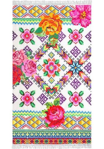 Happiness Strandtuch »Yucatan«, (1 St.), mit Strickdruck kaufen