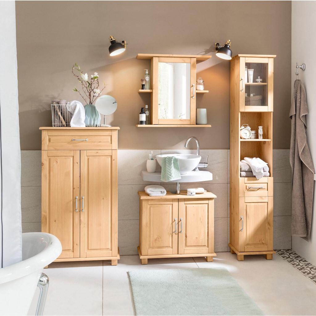 Home affaire Waschbeckenunterschrank »Justas«, aus Massivholz