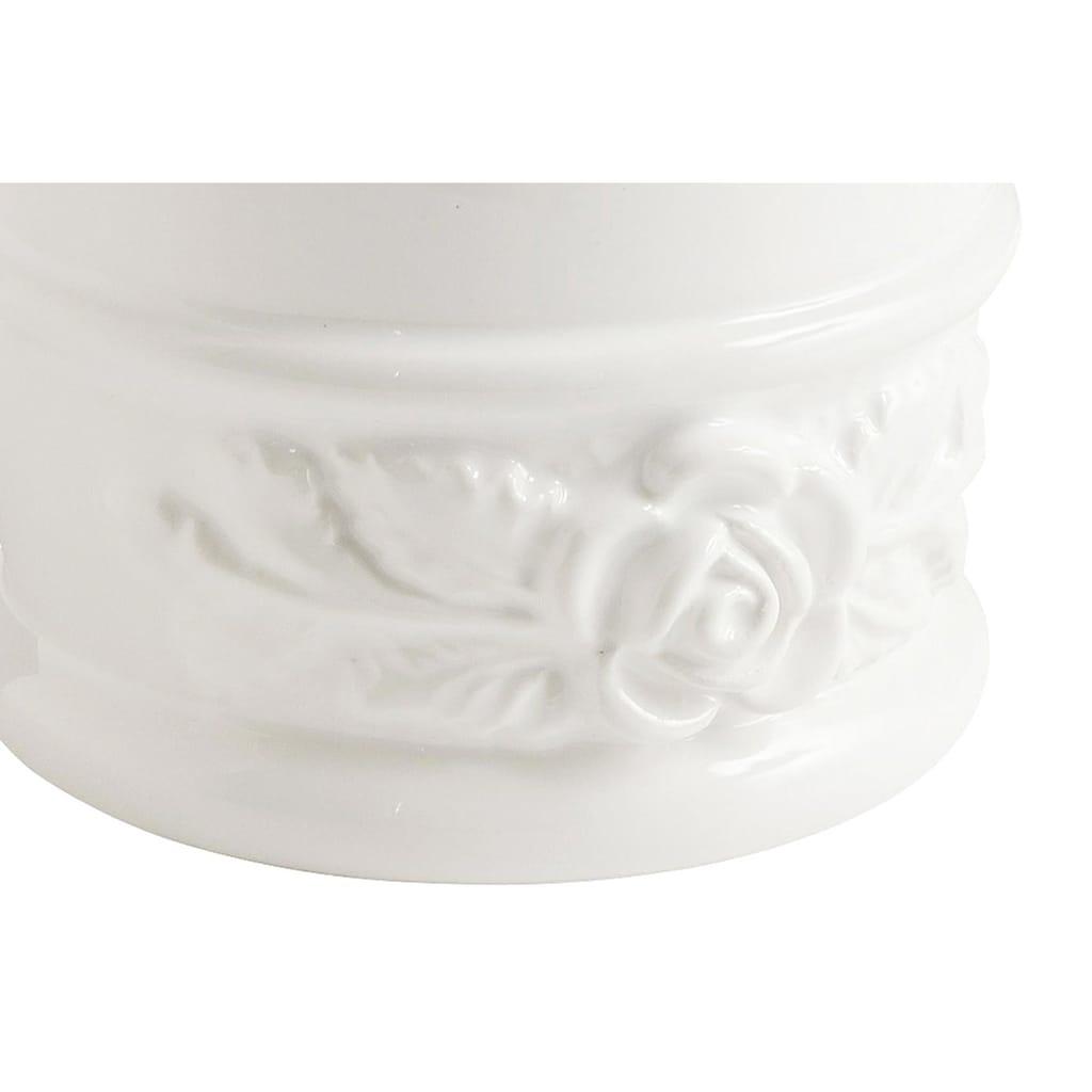 Zahnputzbecher mit Rosenrelief