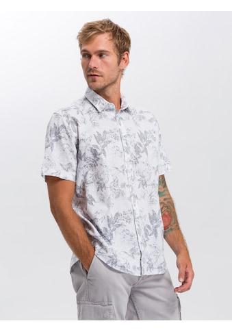 Cross Jeans® Kurzarmhemd »35366«, Floraler Alloverprint kaufen