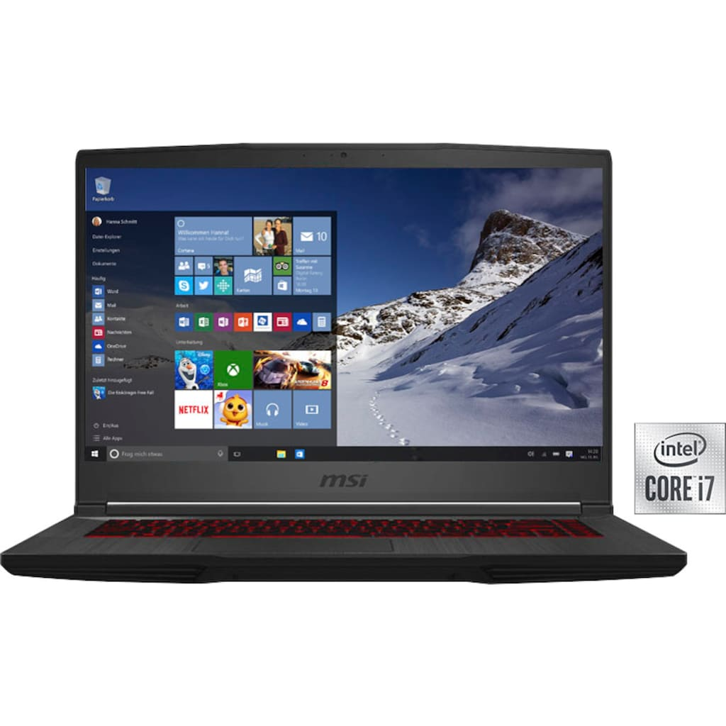MSI Gaming-Notebook »GF65 Thin 10UE-095«, ( 512 GB SSD)