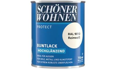 SCHÖNER WOHNEN-Kollektion Lack »Protect Buntlack«, hochglänzend, 750 ml, reinweiß RAL... kaufen