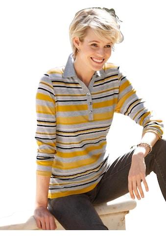 Casual Looks Poloshirt im hochwertig garngefärbten Streifendessin kaufen