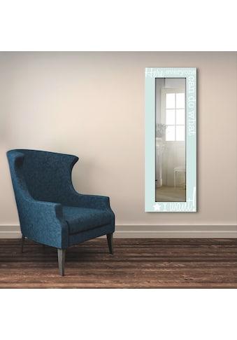 Artland Wandspiegel »Jeder macht das, was ich möchte«, gerahmter Ganzkörperspiegel mit... kaufen