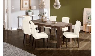 Home affaire Essgruppe »Livara«, (Set, 7 tlg.), bestehend aus 6 Lucca Stühlen und dem... kaufen