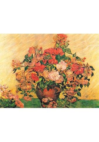 DELAVITA Kunstdruck »VAN GOGH / Vase mit Rosen«, (1 St.) kaufen